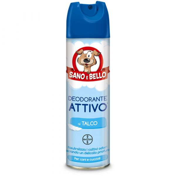 Deodorante per cane attivo al talco sano e bello ml. 250
