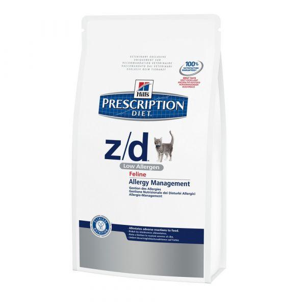 Hill's prescription diet z/d low allergen secco gatto kg.2