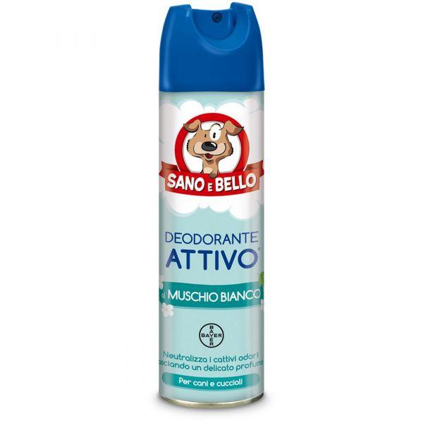 Deodorante per cane attivo al muschio bianco sano e bello ml. 250