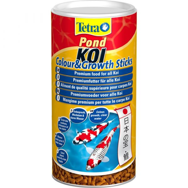 Mangime per pesci tetra pond koi colour & growth sticks lt. 1