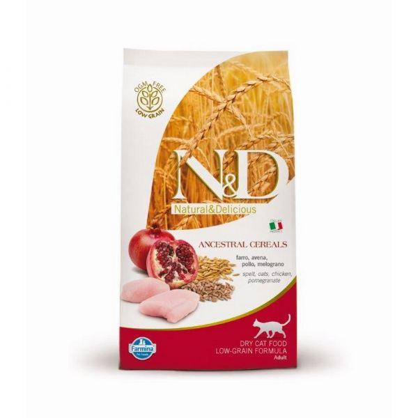 N & d low grain con pollo e melograno secco gatto gr. 300