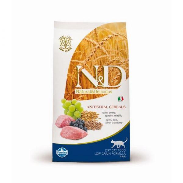 N & d low grain con agnello e mirtillo secco gatto kg. 1,5