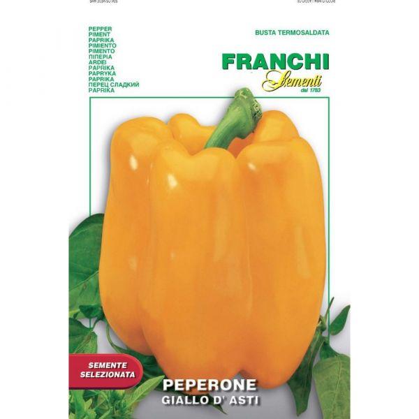 Semente selezionata peperone giallo d'asti