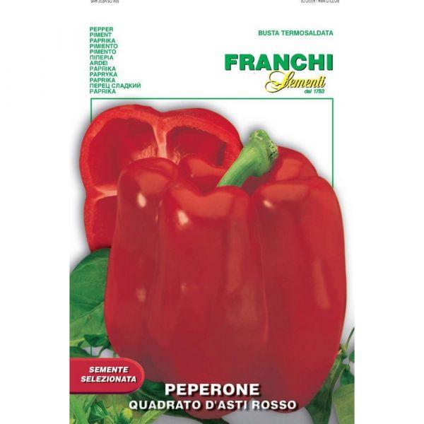 Semente selezionata peperone quadrato d'asti rosso