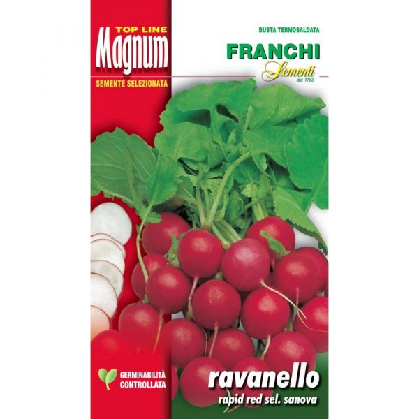 Semente magnum ravanello rapid red selezione sanova