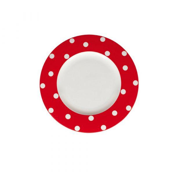 Piatto piano freshness dots red