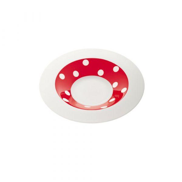 Piatto fondo freshness dots red