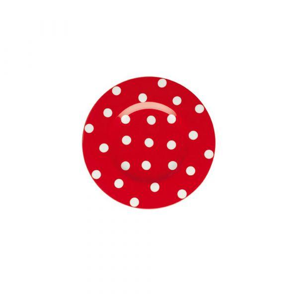 Piatto dessert freshness dots red