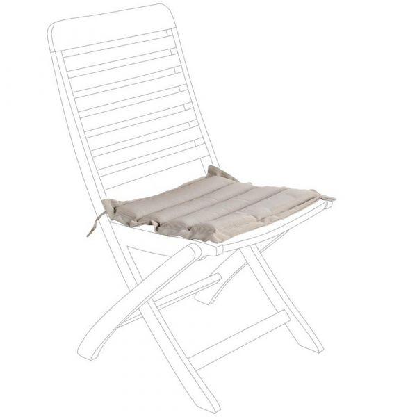 Cuscino trapuntato per seduta grigio
