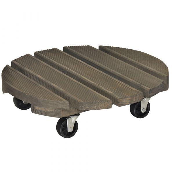 Sottovaso tondo vintage in legno di abete