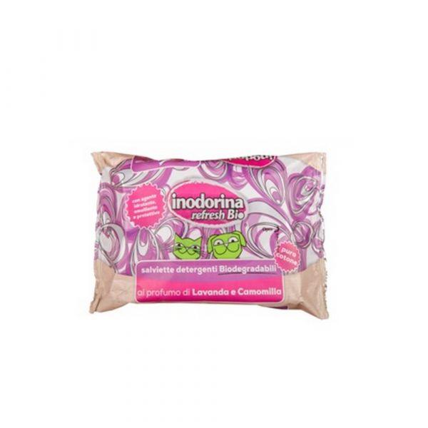 Salviette inodorina biodegradabili alla lavanda e camomilla