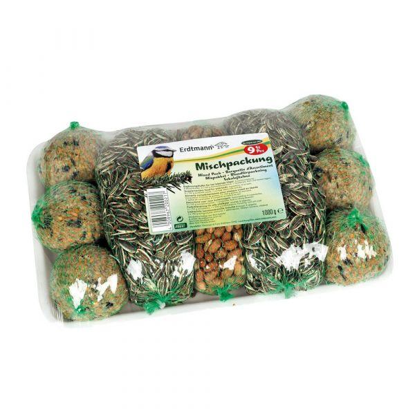 Semi assortiti e palle di grasso per uccelli selvatici 1kg