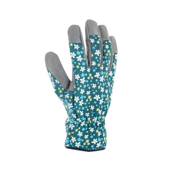 Guanti fleurs bleu
