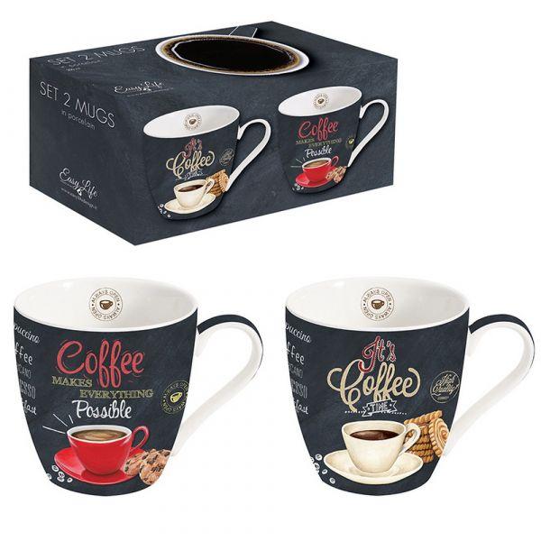 Confezione 2 mug in scatola regalo
