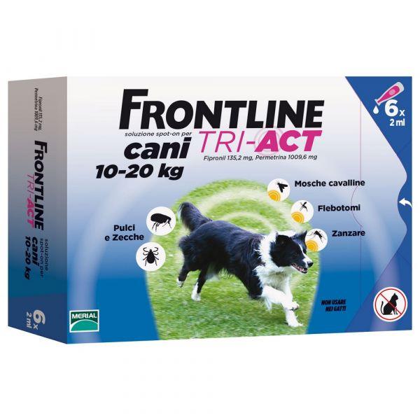 Frontline tri-act per cani 10-20kg 6 pipette