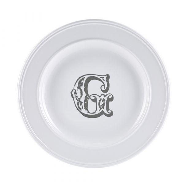 Piatto letter dessert g