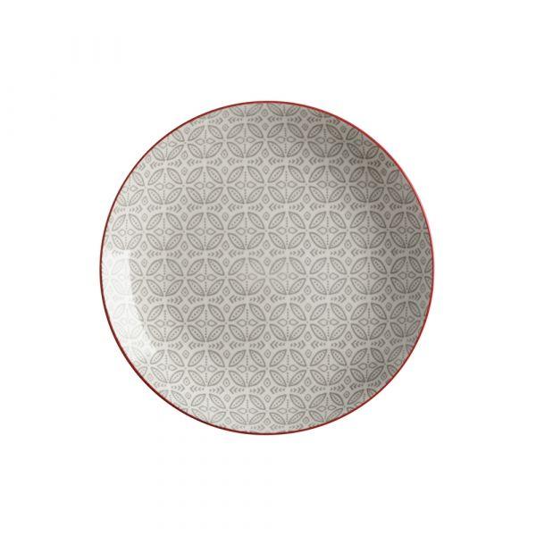 Boho piatto batik grey