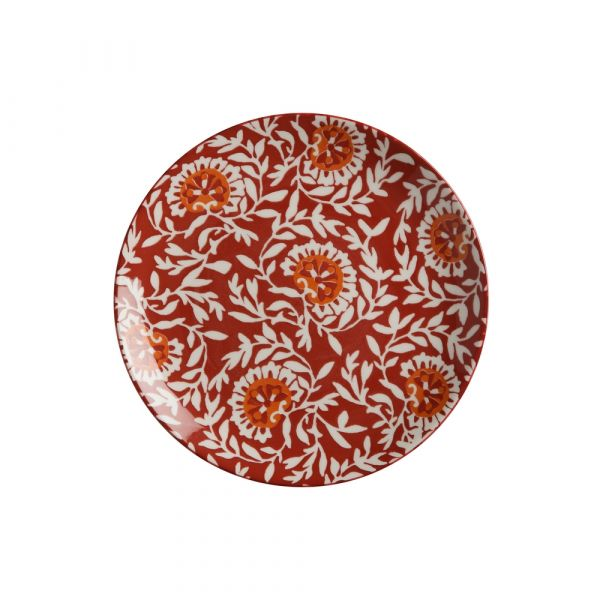 Boho piatto damask red