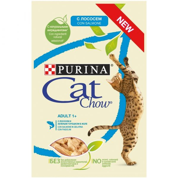 Purina cat chow adult 1+ in gelatina