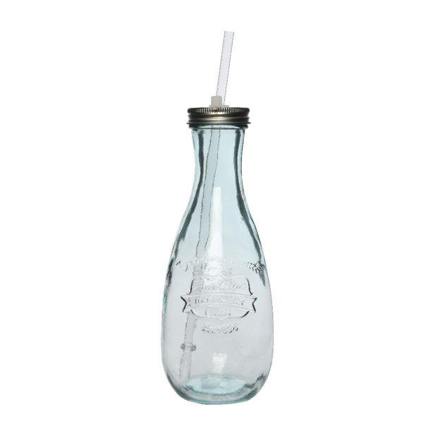 Bottiglia in vetro riciclato
