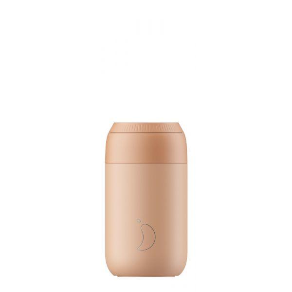Peach orange 340 ml coffee cup