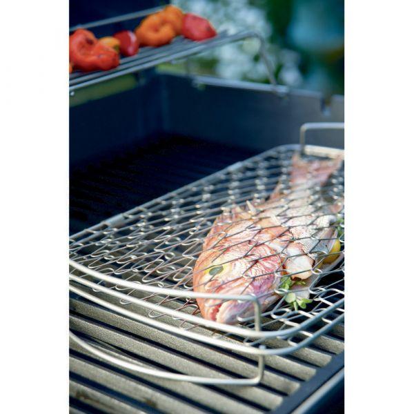 Graticola da pesce/polenta per barbecue weber