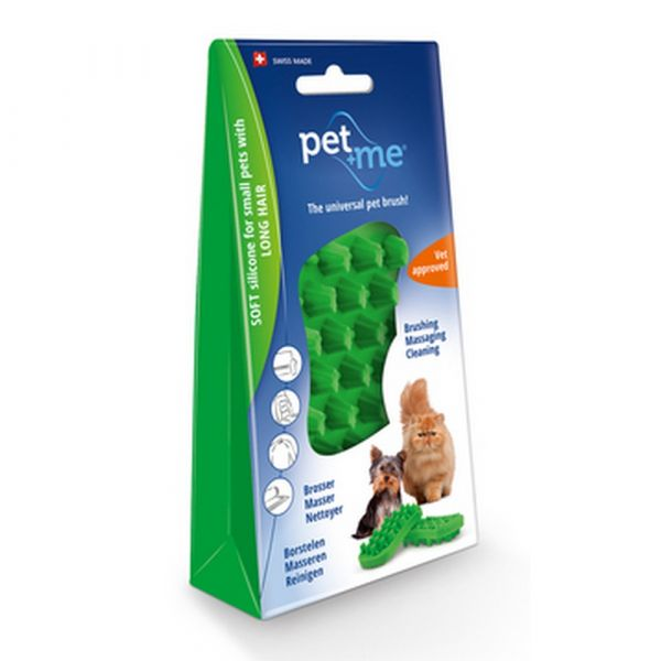 Pet+me cat spazzola per peli lunghi