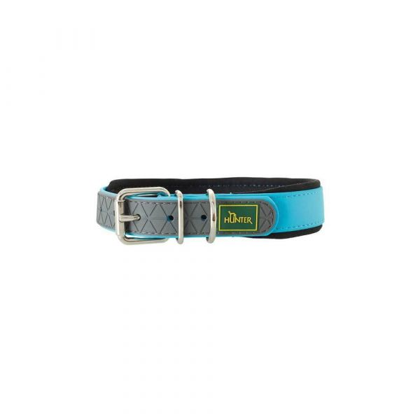 Collare cani hunter 45 cm turquoise