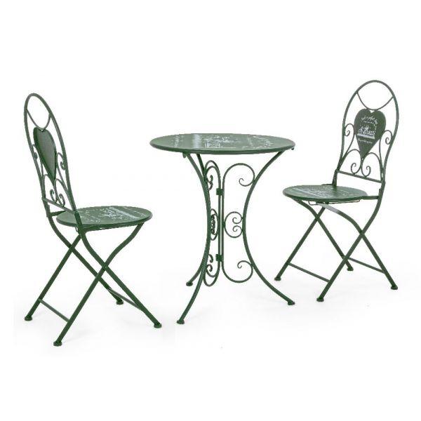 Set Bistrot Park Tavolino e 2 sedie pieghevoli