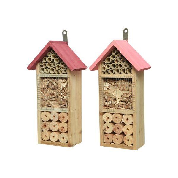 Bugs Hotel: casetta per insetti con tetto rosa
