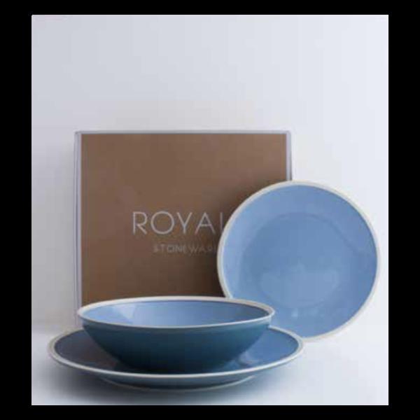 Plate Royal Stone blue   Livellara