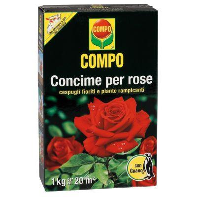 Concime granulare compo per rose con guano 1kg