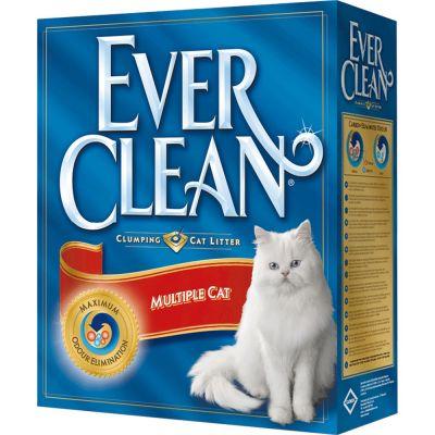 Lettiera igienica ever clean per ambienti con piu' gatti kg. 6