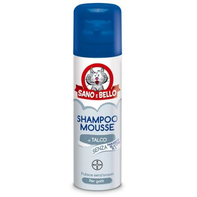 Shampoo mousse a secco per gatto sano e bello ml. 200