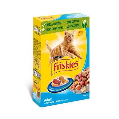 Friskies adult con salmone e verdure aggiunte secco gatto gr. 400
