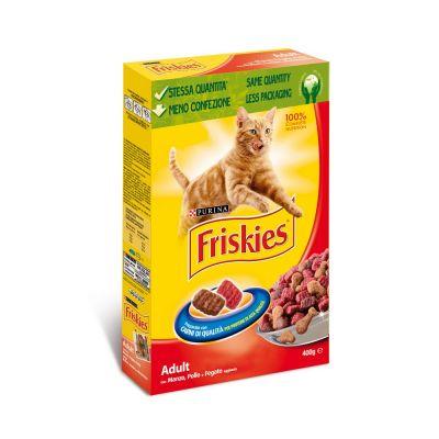 Friskies adult con manzo fegato e pollo secco gatto gr. 400