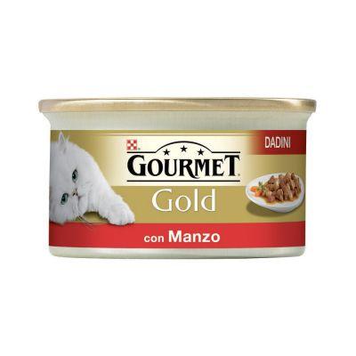 Gourmet gold dadini con manzo in salsa umido gatto gr. 85