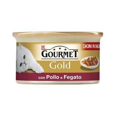 Gourmet gold dadini con pollo e fegato in salsa umido gatto gr. 85
