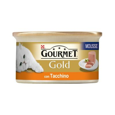 Gourmet gold mousse con tacchino umido gatto gr. 85