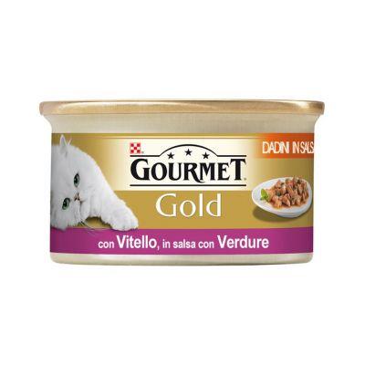 Gourmet gold dadini con vitello e verdure in salsa umido gatto gr. 85