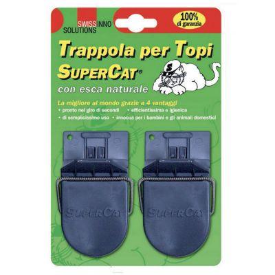 Supercat trappola per topi con esca naturale pz. 2