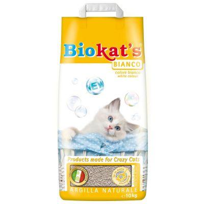Lettiera per gatti biokat's bianco kg. 10