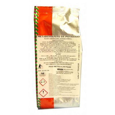 Metabisolfito di potassio gr. 250