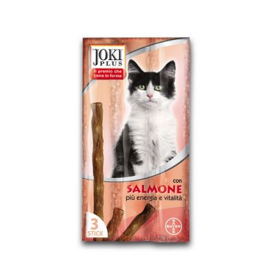 "Snack per gatto joki plus gatto ""salmone"" pz. 3"