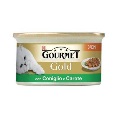 Gourmet gold dadini con coniglio e carote in salsa umido gatto gr. 85