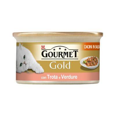 Gourmet gold dadini con trota e verdure in salsa umido gatto gr. 85