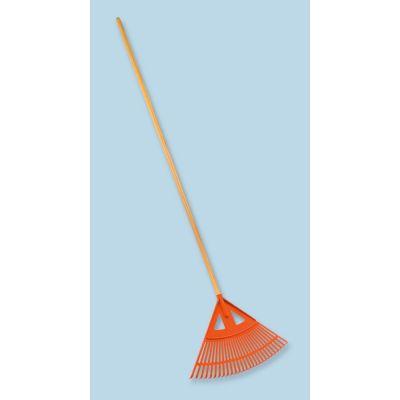 Scopa per erba e fogliame plastica cm. 58