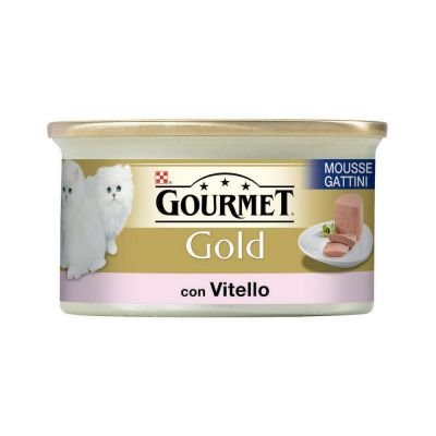 Gourmet gold mousse gattini con vitello umido gatto gr. 85