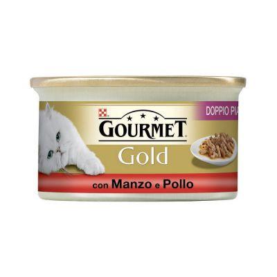 Gourmet gold doppio piacere con manzo e pollo umido gatto gr. 85