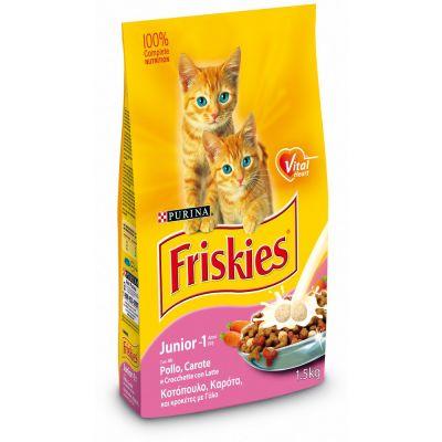 Friskies junior con pollo latte e verdure secco gatto kg. 1,5